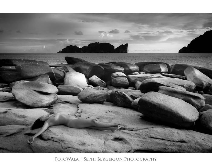 Koh Phi Phi Black and White Nude 03