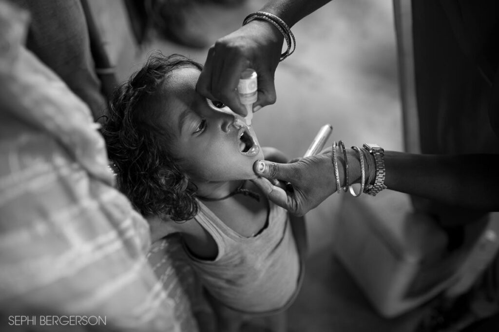 Polio eradication program India unicef