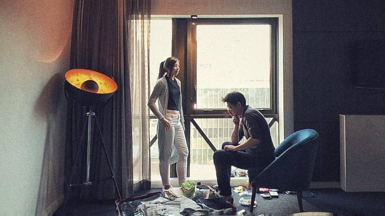Jared and Emmaline Chan at the hotel room in Melbourne. This is their last day in Australia and they will be going into a 14 day quarantine separately upon their arrival in Kuala Lumpur. April 26th, 2020